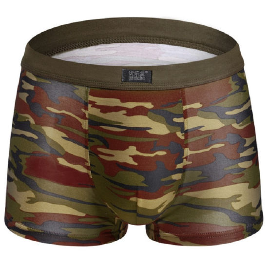 Camouflage Softly Full Cotton Men's Brief Underpanties Bamboo Underwear