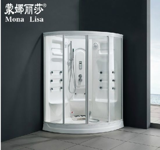 2 Seats Acrylic Steam Shower Room Cabin Infrared Sauna