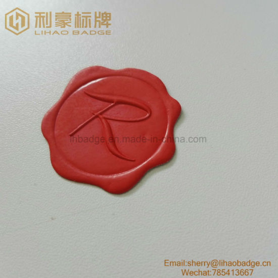 Red Color Sealing Wax Sticker/Aluminum Metal Wine Seal Tag