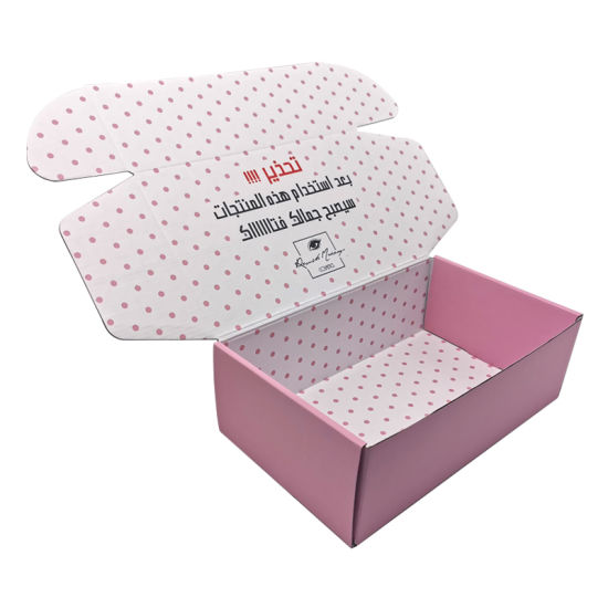 Custom Double Side Printed Tuck Top Corrugated Mailer Shipping Carton Box for Cosmetic Shoe Clothing