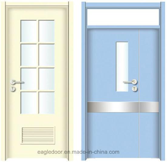 China Simple Designs Modern Hospital Wood Door Design Melamine
