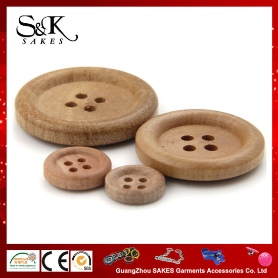 Custom Natural Button of Wooden Button for Garments Accessories