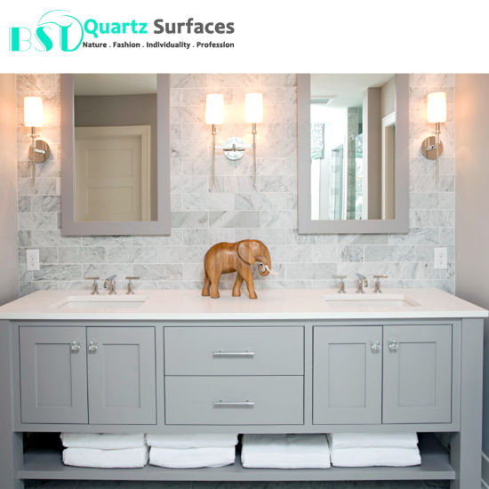 Super White Engineered Quartz Stone For Bench Top
