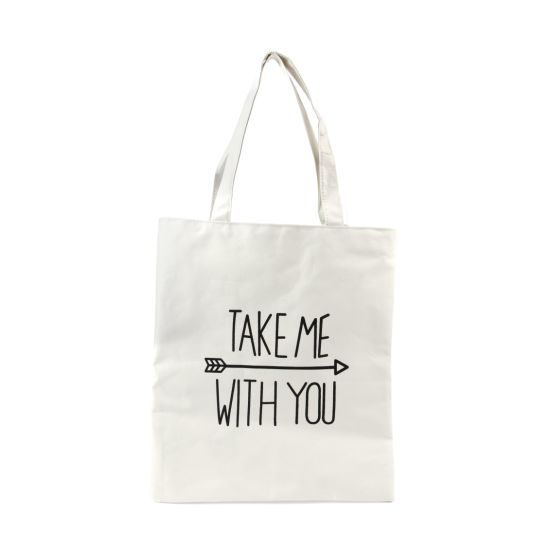 Custom Logo Printed Big Eco Friendly Shopping Recycled Shoulder Beach Plain Canvas Tote Bag