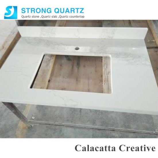 Quartz Stone Vanity Top For Bathroom
