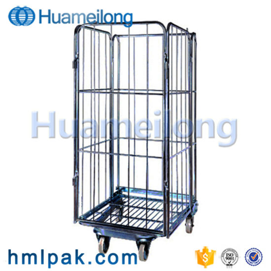 China Supplier Durable Wholesales Galvanized Collapsible Wire Mesh Roll Container
