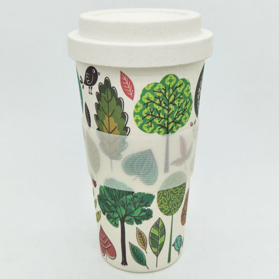 Eco-Friendly Reusable Biodegradable Bamboo Fiber Coffee Cup for Juice Tea Milk
