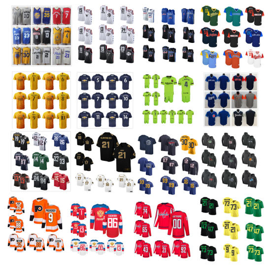 Wholesale Soccer Football Baseball Hockey Basketball Rugby College Hoodies Jerseys