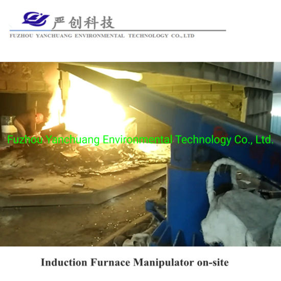 Pressing Rapidly Scrap Save Melting Time Manipulator for Intermediate Frequency Induction Furnace