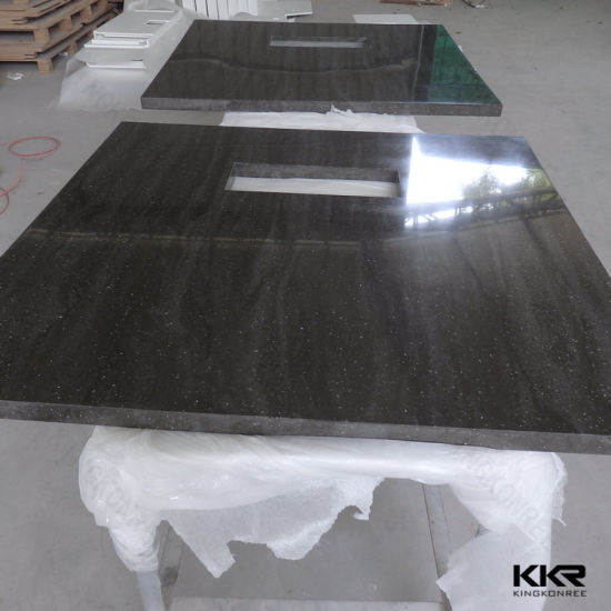 Custom Artificial Stone Kitchen Solid Surface Countertop