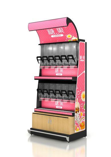 Adjustable Layer Shelf Candy Display Shelf for Supermarket