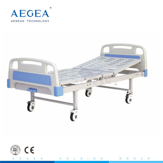 AG-BYS204 CE approved 1-Crank Manual Hospital Bed