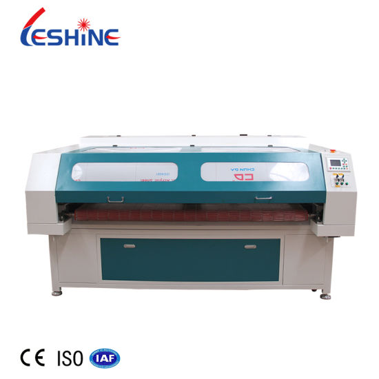 Automatic Feeding Laser Fabric/Leather/Wool Cutting Machine 1610 for Blanket/Carpet