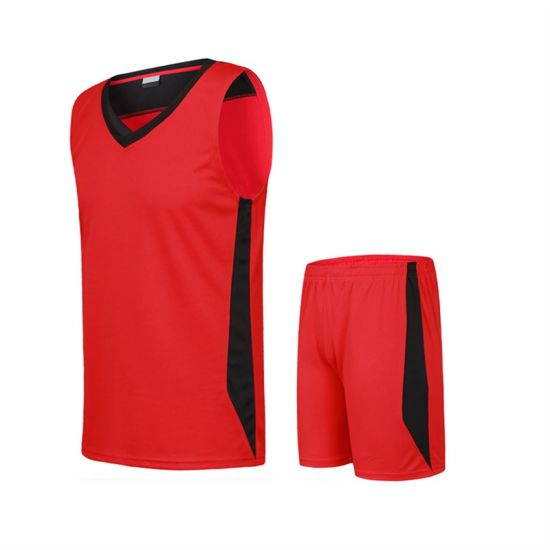 8ceb299c201 Factory Price Customized Team Basketball Jersey Uniform Design Color Red