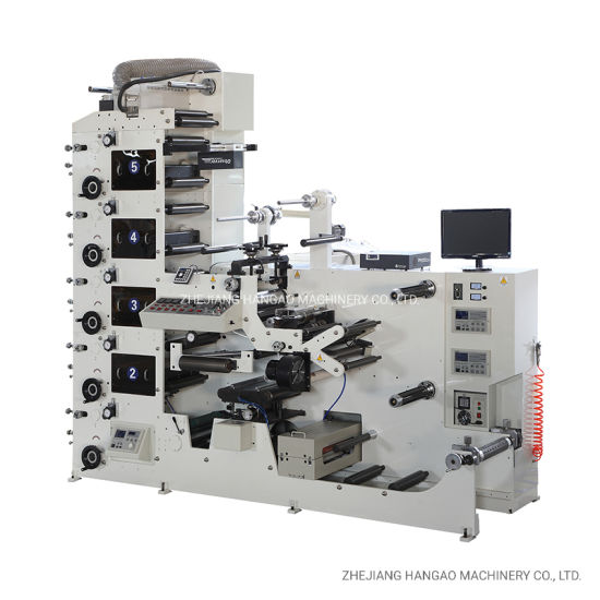 Sticker Label Roll to Roll Flexo Printing Machine with Slitting