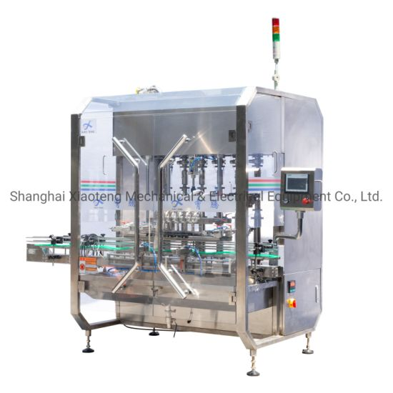 Automatic Servo 6 Heads Hand Sanitizer Gel Alcohol Disinfectant Spray Bottle Filling Capping Machine