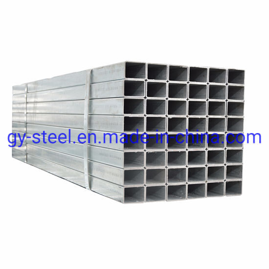 40X60 Galvanized Rectangular Steel Gi Square Pipe