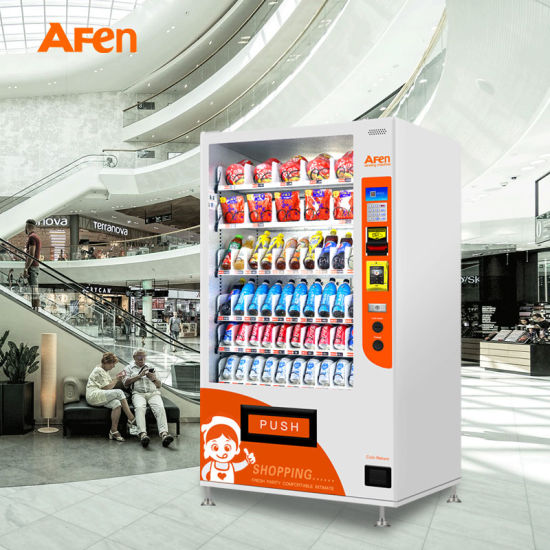 Afen Refrigerated Soda Snack Combo Vendor Machine Vending Machines for Chilled Drink