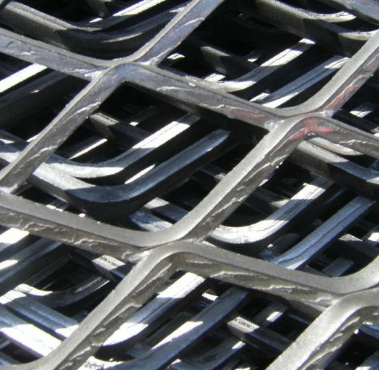 Heavy Duty Galvanized Steel Diamond Flat Plate Expanded Metal Mesh