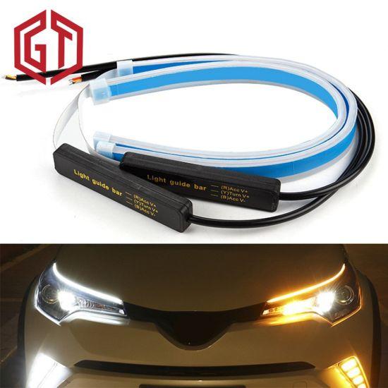 2x 60cm Flexible Car Soft Tube LED Strip Light DRL Daytime Running Lamp White