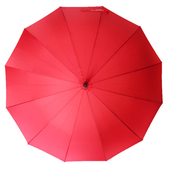 12ribs Red Wedding Umbrella Straight J Shape Handle Umbrella (YZ-19-76)