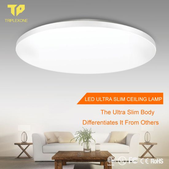Ultra-Thin Postmodern Three Color Light Source Embedded LED Lamp Bedroom Balcony Corridor Round Ceiling Lamp