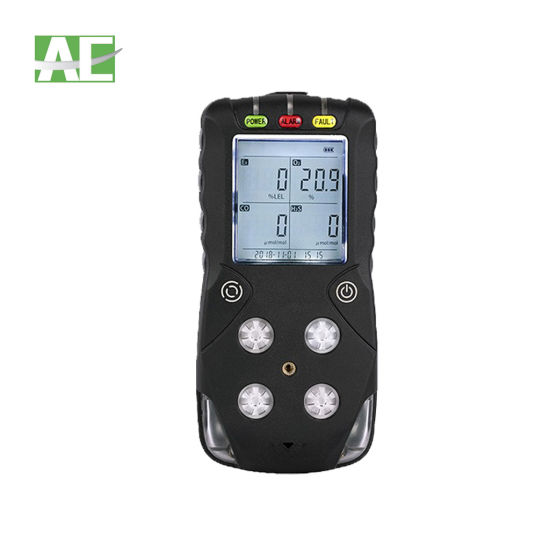 Portable Gas Monitor for H2s Co O2 Ex with LCD Display and Full English Menu
