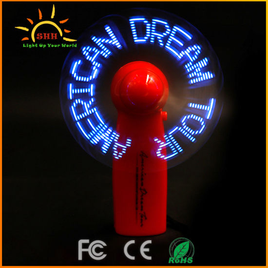 Custom Flash Message Hot Selling Portable Handy Mini Fan
