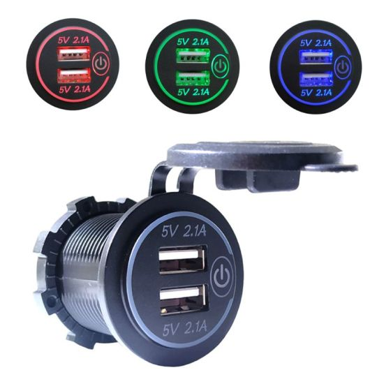 12-24V Motorcycle Scooter USB Charger Socket Power Supply for Mobile Phone HOT