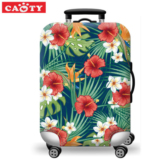 Outdoor Travel High Elastic Solid Color Dust-proof Luggage Suitcase Protective Cover For 24//28 Inch Suitcase Luggage