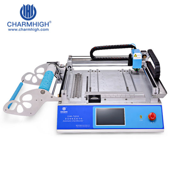 Charmhigh Chm-T48va 2nozzle Head SMT SMD Pick and Place Machine for PCB Prototype and SMT Assembly