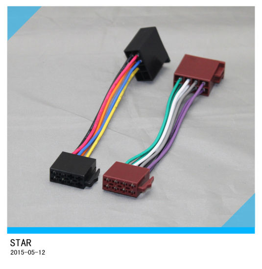 china car radio iso male to female 18 pin wire harness connector rh starconnect en made in china com