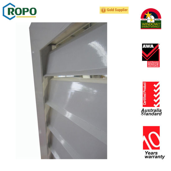 PVC/ Aluminum Profile Shutter Window pictures & photos