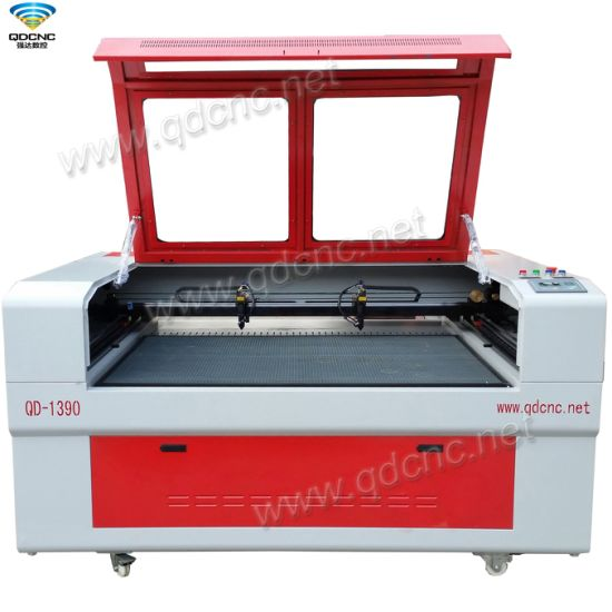Dual Head CNC Leather Laser Cutting Machine with DSP Offline Controller Qd-1390 -2