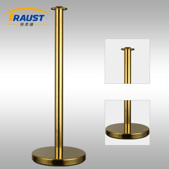 Golden Classical Post & Velvet Rope Stanchion/Stand (RP-34CF)