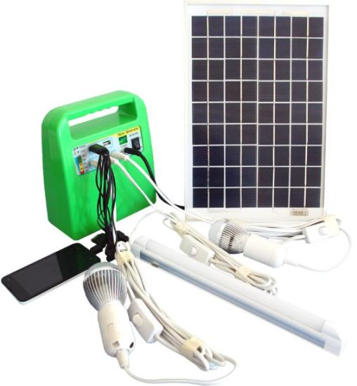 portable 10W/7ah/12V DC Solar Panel Home Lighting Power/Energy System pictures & photos