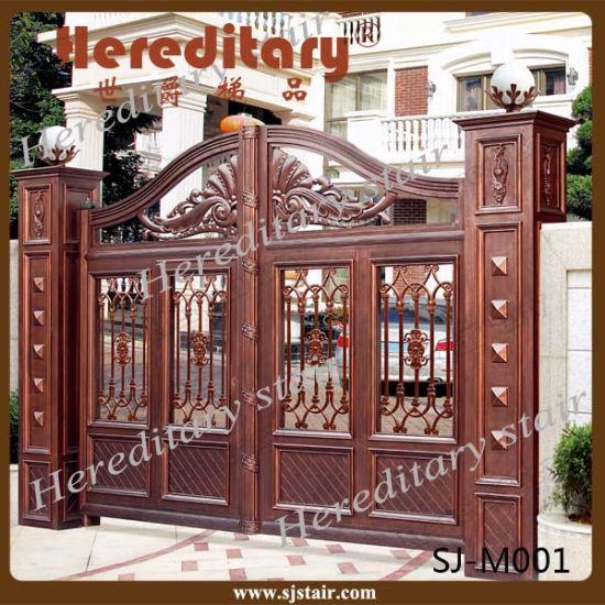 Outdoor Durable Red Antique Aluminum Garden Main Gate Security Gates