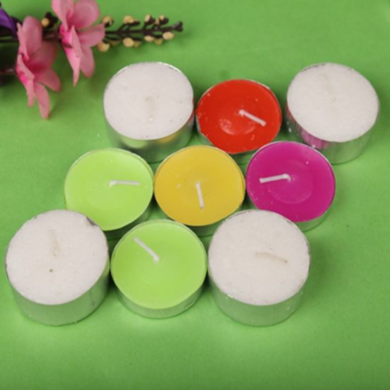 Wholesale 50p Colorful Scented Tea-Light Candles for Wedding Use