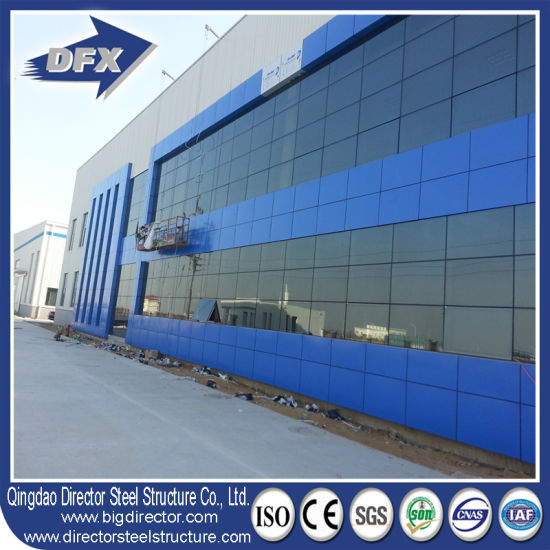 2019 New Design ASTM, GB, AISI Standard Light Type Steel Structure Building with Glass Curtain Wall pictures & photos