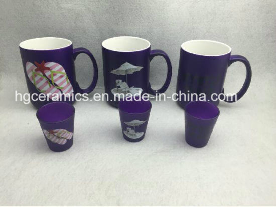 15oz Neon Color Mug, Purple Color Ceramic Mug pictures & photos