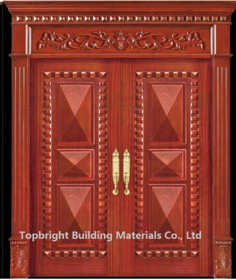 . Villa Exterior Main Door Double Door Design Solid Wood House Door