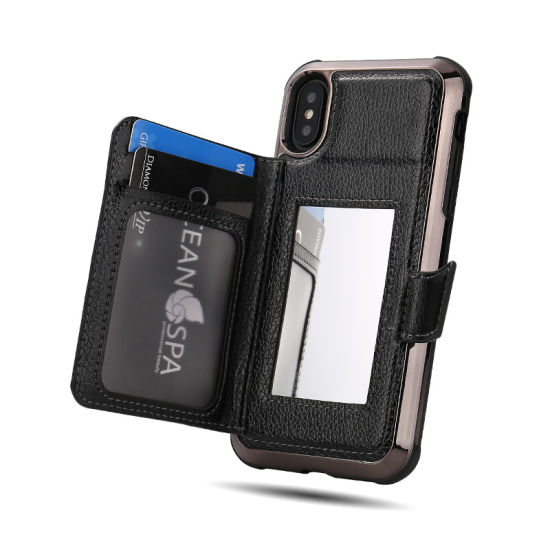 08ddfd9b34 China Flip Leather Mobile Cell Phone Case Cover with Wallet Mirror ...