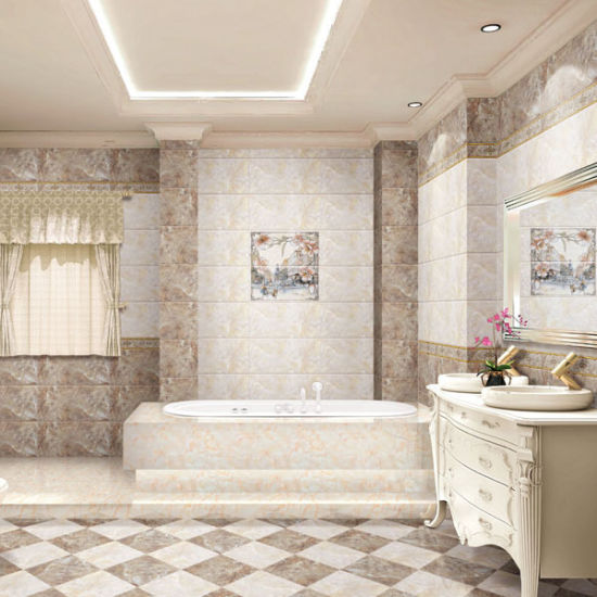China 30X60 Brick Pattern Nonslip Flooring Bathroom Tile From Foshan