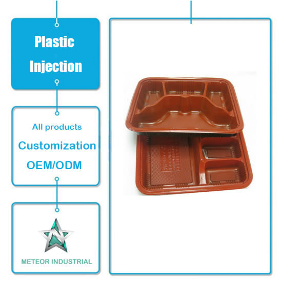 Customized Plastic Injection Mould Products Disposable Tableware Plastic Fast Food Container