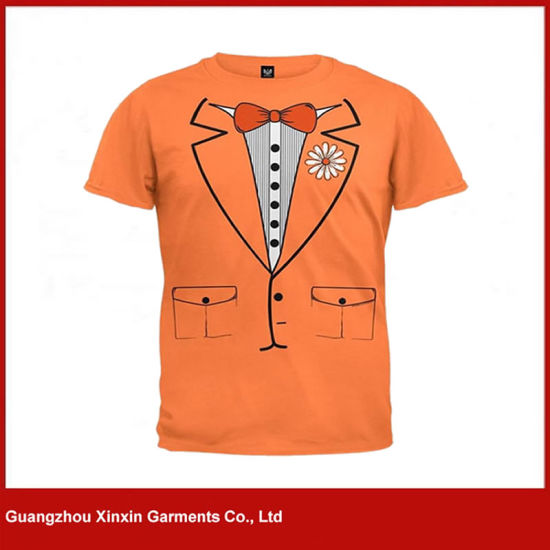 Custom Printing Men T-Shirt with Cotton or Polyester Fabric (R118)