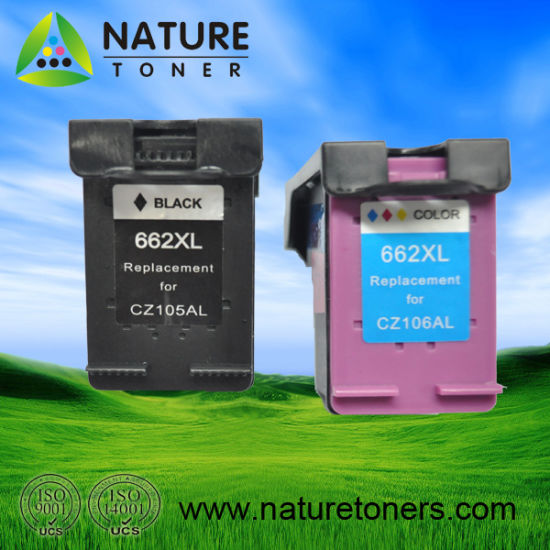 Remanufactured Ink Cartridge 662XL Bk (CZ105AL) , 662XL Color (CZ106AL) for HP Printer