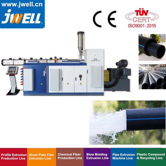 Jwell Completely Automatic and Turn Key HDPE Pehd Pipe Manufacturing or Production Line with Production Capacity 300 Kg to 500 Kgs Per Hour