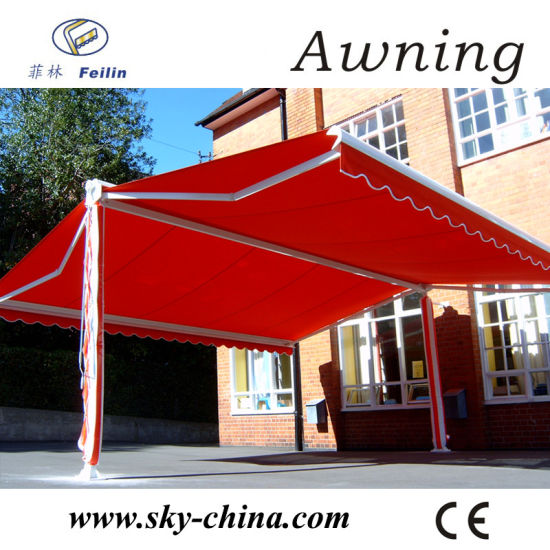 China Popular Motorized Free Standing Retractable Awning China