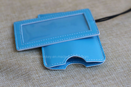 Fashion Custom Gift Airplane Soft PU Leather Luggage Tags pictures & photos