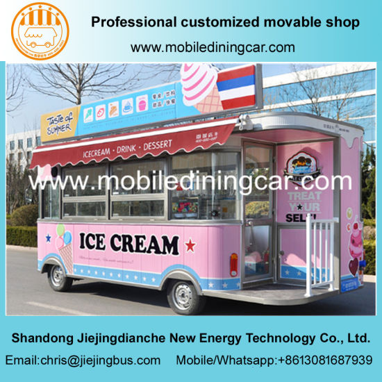China new design ice cream truck mobile food trailer for for Food truck design app